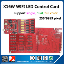X16W wireless led display controller support single color dual color full color moving led sign indoor outdoor led display board(China)