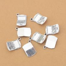 20 PCS/lot Calculator Charms handmade Crafts pendant making fit necklace DIY for bracelet Antique Silver Accessories Wholesale(China)