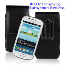 Black Belt Clip Leather Case For Samsung Galaxy S3 mini I8190 Sleeve Cover +one direction &phone cases(China)
