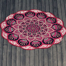 Round Beach Towel Large Yoga Mat 150cm Indian Mandala Throw Bath Towels For Adult Tablecloth Picnic Blanket