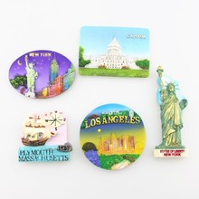 Magnet Sticker, Quality 3D Resin Fridge Magnet, New York, Capitol, Statue of Liberty, USA Refrigerator Magnet Sticker Souvenirs