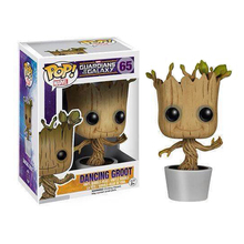 J.G Chen Genuine Brand Funko POP Guardians Of The Galaxy Toy Figure DANCING GROOT Bobble Groot 10CM