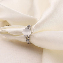 Fashion Zinc Alloy Chrismas Gift Wholesale Stone Rings Latest Twilight Bella Moonstone Ring Gilded Natural Women