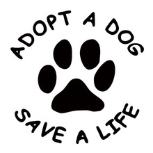 Hot Products For Adopt A Dog Save A Life Vinyl Decal  Car Sticker Dog Paw Sticker Removable Truck Decals Cute Jdm