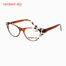 2017 Fashion Cat Eye Glasses Retro Vintage Female Spring Hinge Reading Glasses Men Women Presbyopia Gl 1.0 1.5 2.0 2.5 3.0 3.5