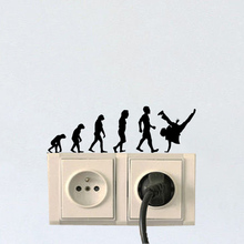 Evolution Break Dance Personality Home Decor Light Switch Wall Stickers Decals 6SS0200