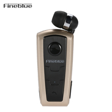F910 Stereo Bluetooth Headset Bluetooth 4.0 Hands-free Earphone Vibrating Alert Cable Retractable with Clip