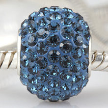 Original 925 Sterling Silver blue quartz beads diy jewelry Fits for Pandora Bracelets free shipping(China)