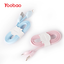 Yoobao 426 Lightning USB Fast Charging Cable 1m Cute Cat USB Lightning Cable for iPhone 6 6s 7 Plus 8 10 Durable Data Cable(China)