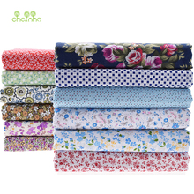 Thin Cotton Fabric Patchwork For Quilting Sewing doll cloth Craft Telas Tissu Bundle Tilda Floral Boca Plaid Material HalfMeter(China)