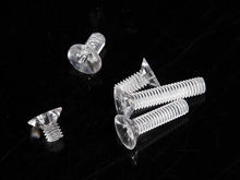 200p M2*8 M2X10 M2X12 M2X16 Transparent Acrylic Flat Cross Recessed Countersunk Head Machine Screws clear Screw Fastners