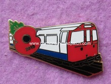 Custom poppy badge,train badge,imitation hard enamel badge,