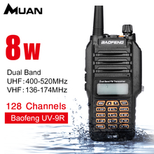 Baofeng UV-9R Dual Band Walkie Talkie VHF 136-174MHz UHF 400-520MHz Ham Radio 8W Walkie Talkie Two Way Radio(China)