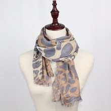 New Casual Leopard Print Scarf Women Gradual Wrap Foulard Long Soft Female Scarves Brief Beach Towel(China)