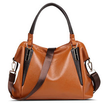 China Famous Brand Best Quality Women Handbag Burnished Genuine Leather Bag 20PCS/lot(China)