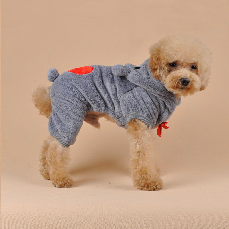 prativerdi Autumn Winter Costume Warm Love Cubs Dog Clothes Puppy Jacket Coat Soft Fluff Puppy Sweater For Pet Christmas Clothes8