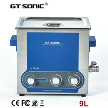 Manufacturer wholesale 9L ultrasonic washer dental instruments brass denture  jewelry case cleaning machine  GT SONIC-P9