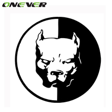 Pitbull Motorcycle Car Stickers and Decals 12cm Dog Stickers 3D Funny Car For BMW VW Audi Stickers
