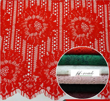 6 Colors cord lace green red ivory black burgandy pink high quality cord lace 150*150CM per piece geometric eyelash corded lace(China)