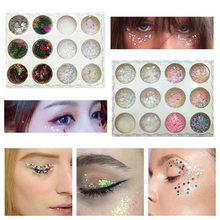 12 Colors Mixed Flake Chunky Eye Glitter Nail Face Eye Shadow Sequins Set  Decorations Festival Body Dance Tools Makeup Kits 2284ad75fbca