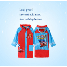 Impermeable Cartoon Raincoat For Baby Girls Kids Boy Hiking Rain Capes Ponchos Long Nylon Waterproof Rainwear Fabric Children
