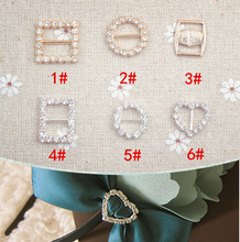 Buttons Rhinestone Diamonds Buckle Sliders For Clothes Bags DIY Decorative Craft Buttons boutons