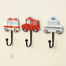 American car hook, bag hook, garment shop fitting room decorative hook Fire truck police ambulance pattern hooks(China)