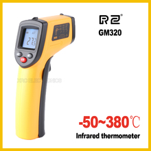 RZ GM320 Non-Contact IR Infrared Digital Temperature Gun Thermometer -50~380C (-58~716F) Emissivity 0.95 12:1(China)