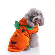 2017 NEW Halloween Pet Dog Dresses Ghost Festival Dress Up Jacket Pumpkin dog coat Section Clothes vetement pour chien EY11(China)