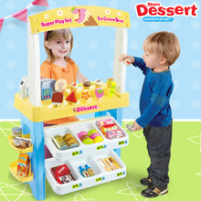 Innovative,realistic,special,DIY,best gifts,play with friends,payment,cake,ice cream,new,recognition capability,Dessert shop set