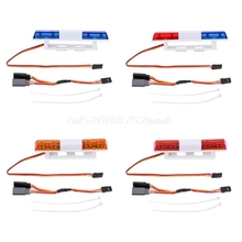 Rectangle Bright LED Lamp Police Light For 1/10 1/8 4WD Axial SCX10 RC Model Car #T026#(China)