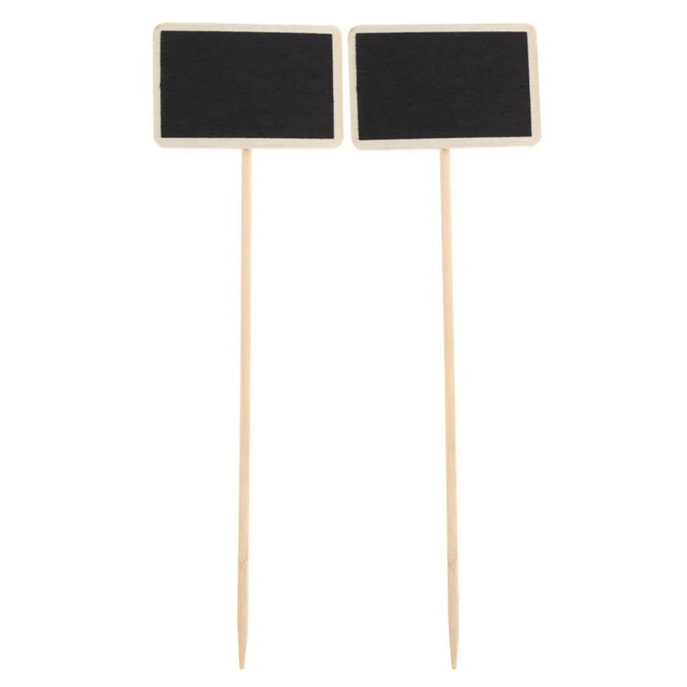10pcs Retangle Chalkboard Wedding Wood Mini Blackboard Stand Wedding Lolly Party Wooden Tag Black Board Chalkboard for Party