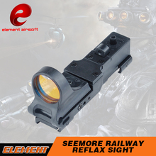 Element SeeMore Railway Reflex C-MORE Sight Red Dot Sight For Tacitcal Weapon Flashlight Outdoor EX182
