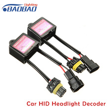 Car HID Headlight Decoder Canceller Resister Error Code Free Canbus Wiring Harness ANTI-FLICKER For Xenon car styling