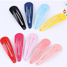 10PCS/Lot New Korean Colorful Children 5CM Hairpins Safety Hair Clip For Girls High Quality Headband Kids Cute Hair Accessories