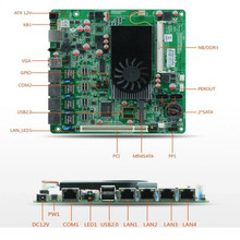 D2550 server motherboard with 4 LAN ports, USB,VGA, for router, mini PC