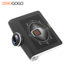 ZEROGOGO Car DVR 360 Degree Panoramic Recorder Car Camera Dash Cam Black Box Full HD 1080P 4.5 Inch Night Vision Fisheye Lens