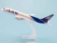 16cm Metal Alloy Plane Model Chile Air LAN Airways Boeing 787 B787 CC-BBA Airlines Airplane Model w Stand Aircraft Gift