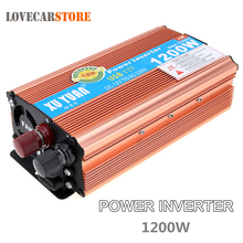 1200W DC 12V 24V to AC 220V 110V Aluminum Alloy Auto Car Power Inverter Converter Adapter Adaptor with USB Charging Port