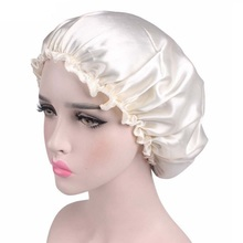 1 PCS Women Satin Caps Hair Chemotherapy Lady Sleep Night Cap Head Turban Casual Head Covers Solid Color(China)