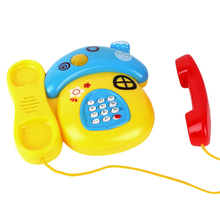 1pc High Quality Creative New Kids Blue Phone Children Early Educational Music Mobile Baby Electronic Kids Fun Games Toys Phone