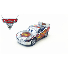 Disney Pixar Cars Silver McQueen 1:55 Diecast Metal Alloy Model Car Toys Birthday Party Gift For Children(China)
