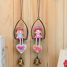 Cartoon Wind Chimes Decorative Pendant Crafts Boys Girls Hanging Foot Creative Home Pendant Small Kids Gifts 2pcs/lot
