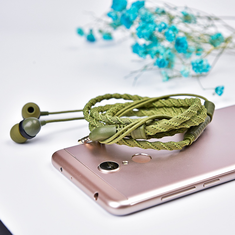Artisome Wired Bracelet Earphone With Microphone 3.5mm Fabric Braided Earphone For Phone Headphones For iPhone Adroid (16)