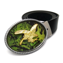Fashion Gold American Eagle Cowboys Belt Buckles Metal Vintage Western Mens Jeans Big Buckle Belts Black PU Leather belt(China)