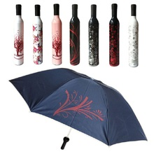 FB 27 Mosunx Business Hot Selling Fast Shipping Bottle Umbrella Fashion Flower Pattern Design Sun Rain Umbrella Christmas Gift(China)