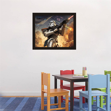 HAOCHU American Science Fiction Movie Poster Trooper In War Wall Pictures Painting On Canvas for Home Decor Theme Party Ornament(China)