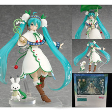 1piece Hatsune Miku Figma 024 Snow Miku Snow Bell ver. PVC Action Figure Collectible Model Toy Free Shiping(China)