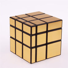 3x3x3 Magic Mirror Cube professional Gold&Silver cubo magico Cast Coated Puzzle Speed Twist learning and education Toys(China)