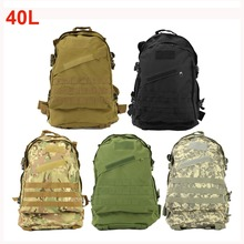 40L Outdoors Sports Camping Bag 3D Molle Military Tactical Backpack Rucksack Traveling Hiking Trekking Bag